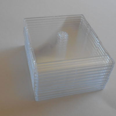 20 clear plastic CD single cases