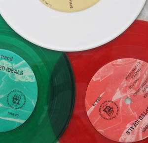 Red Green White Christmas colored records