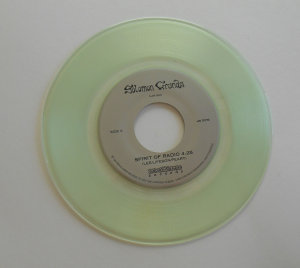 Clear vinyl 7 inch record
