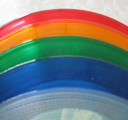 Assorted Colored Record red yellow green blue clear colored record
