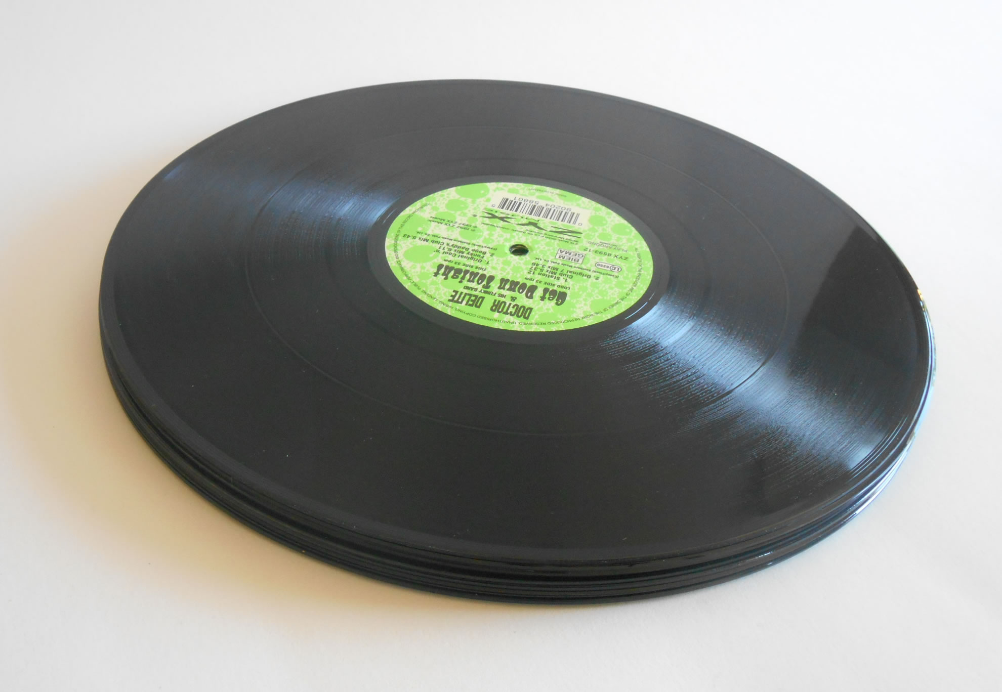 5 Black 12 Inch Records For Crafts And Art Projects