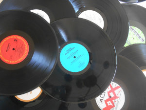 5 bulk vinyl LP 12 Inches for craft projects