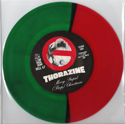 Red and Green colored record vinyl 7 inch
