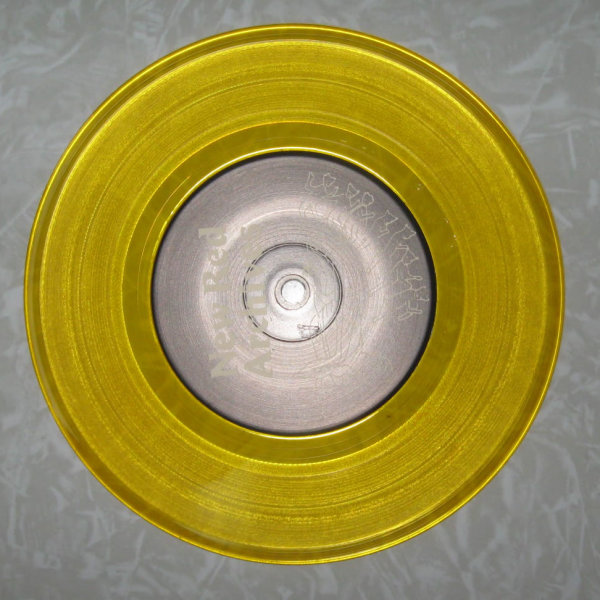 Yellow colored record clear vinyl Yellow Vinyl 7 Inch Record