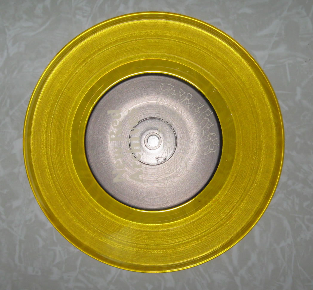 Yellow Vinyl 7 Inch Record