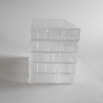 clear empty cassette cases