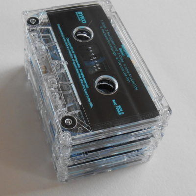 Clear cassette tapes for craft projects