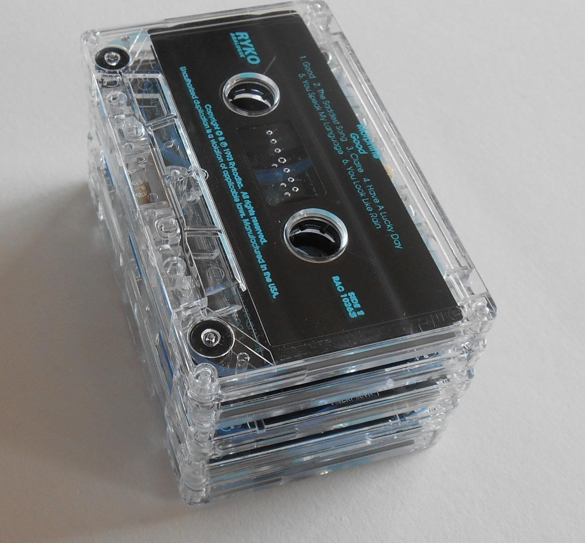 25 Clear Cassette Tapes For Craft And Reuse Art Projects
