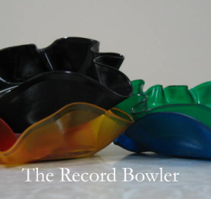 color records made into bowls