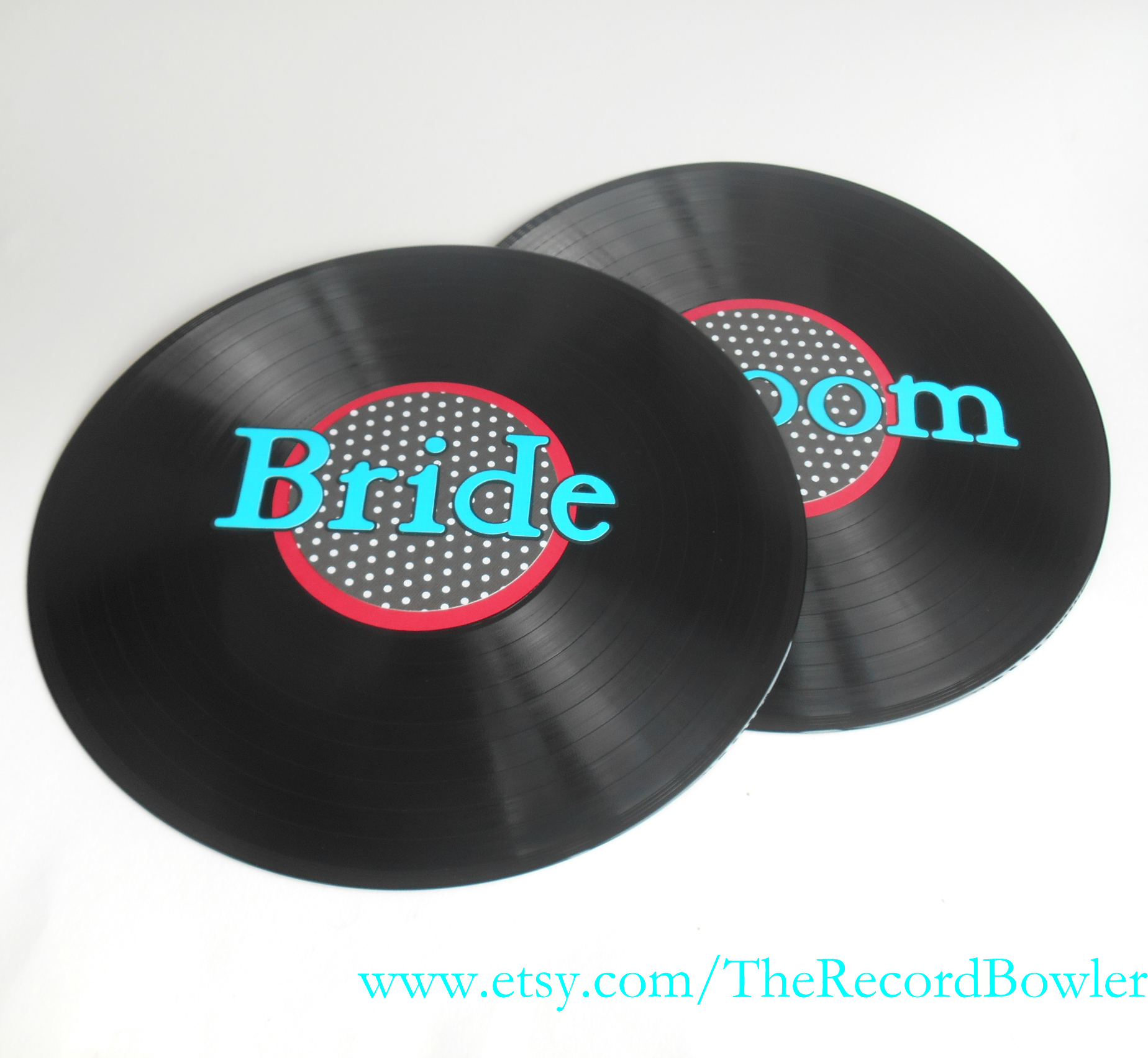 Rock n roll wedding theme record decorations
