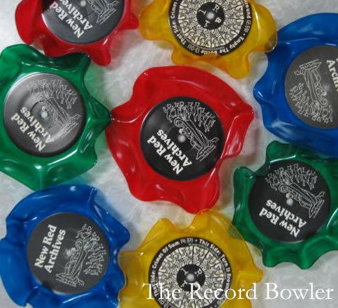 Brighten up your summer with colored record bowls