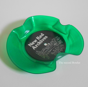 green colored record bowls