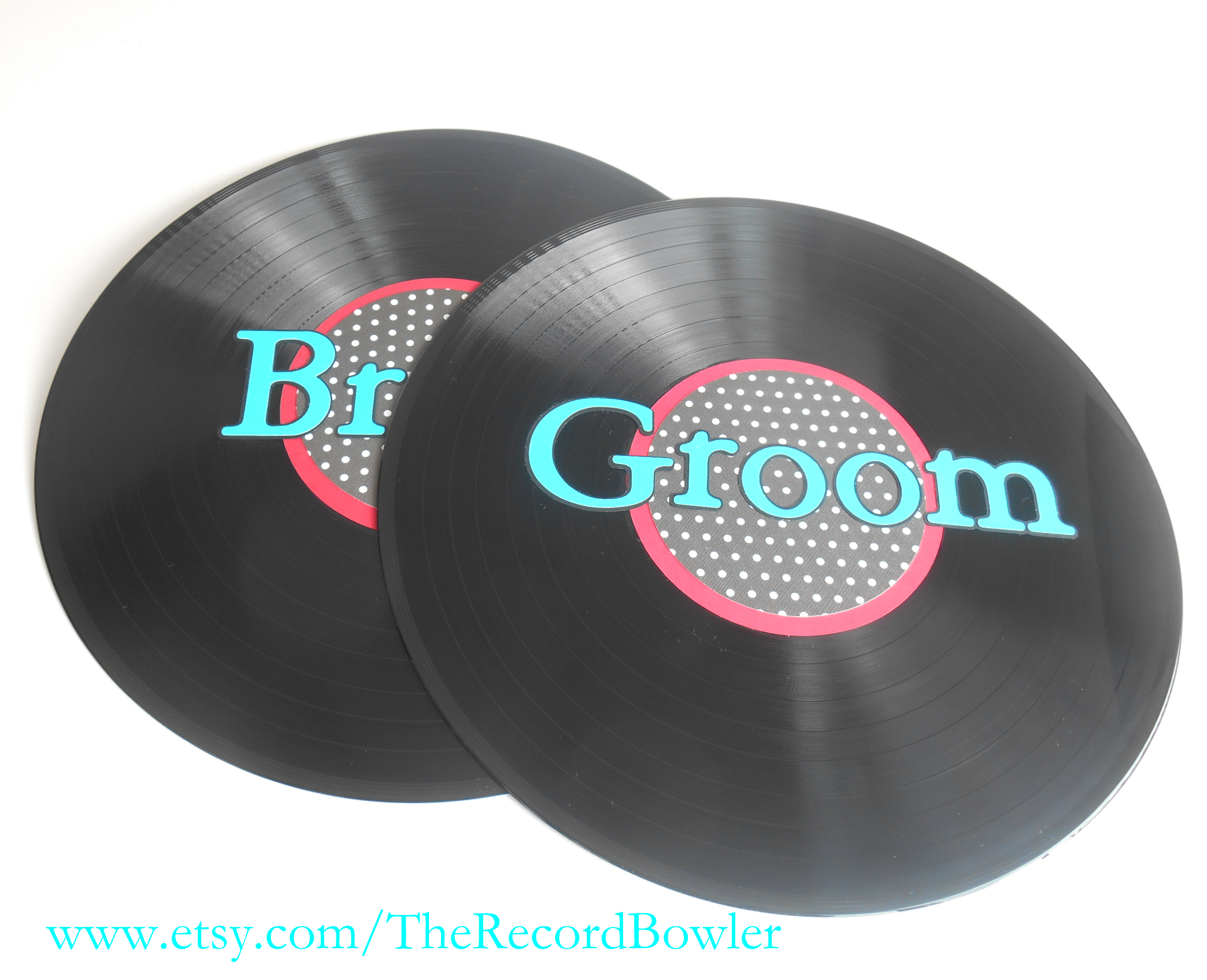 Rock n roll wedding theme record decorations colored vinyl records